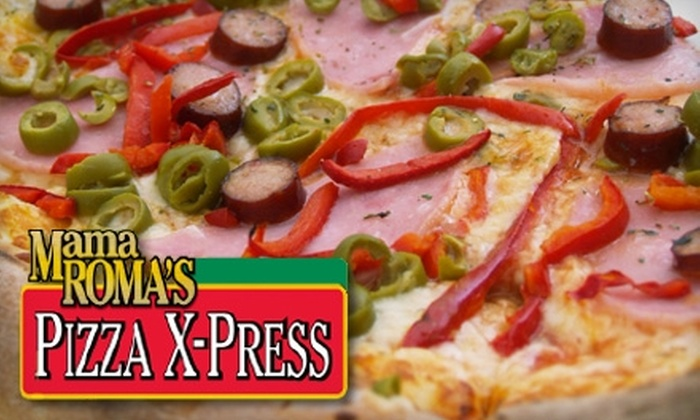 Mama Roma's Pizza X-Press - Multiple Locations: $25 for the Super Bowl Package ($50 Value) or $5 for the Mama's Favorite Package ($10) at Mama Roma's Pizza X-Press