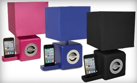 iHome Speaker iPod Dock and LED Ambient Lamp: Black (a $108 value) - iHome Speaker Dock and LED Lamp in