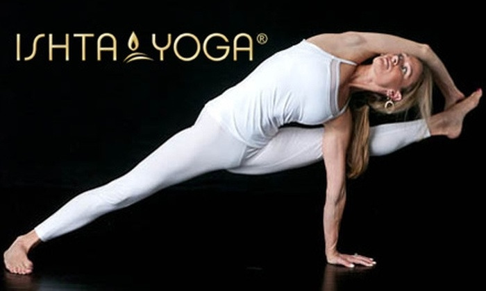 ISHTA Yoga - Multiple Locations: $30 for One Month of Unlimited Yoga ($60 Value) at ISHTA Yoga