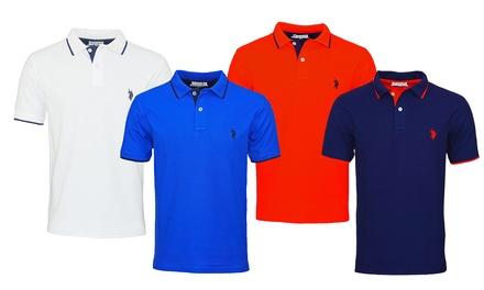 Polo U.S. Polo Assn. da uomo in cotone 100% disponibile in vari colori e taglie
