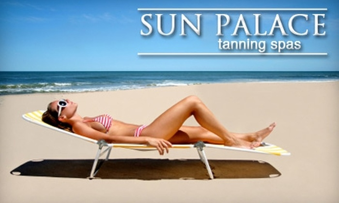 Sun Palace Tanning Spas - Multiple Locations: $25 for Two Spray-Tan Sessions ($60 Value) or One Month of Unlimited All-Access All-Level Tanning Bed Use ($69.95 Value) at Sun Palace Tanning Spas