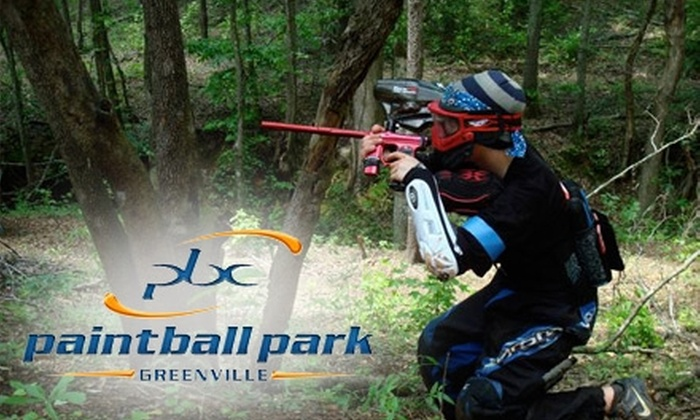 Paintball Central - Multiple Locations: $22 for All-Day Entry, Equipment, Unlimited Air, and 500 Paintballs at Paintball Central ($44 Value)