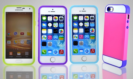 Interchangeable Hybrid Case for iPhone 4/4s, 5/5s, 5c, or Samsung Galaxy S5