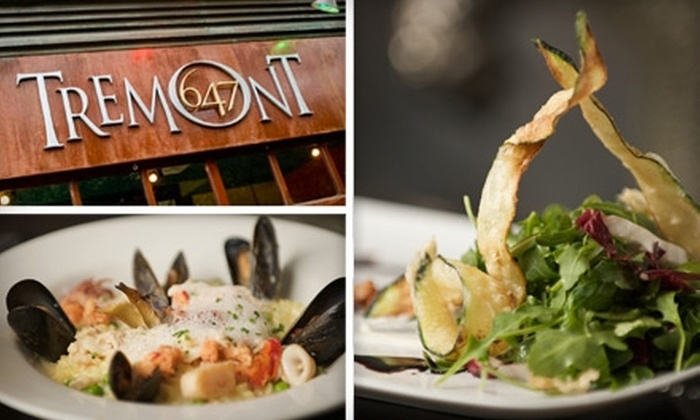 Tremont 647 - South End: $25 for $50 Worth of Adventurous American Cuisine at Tremont 647