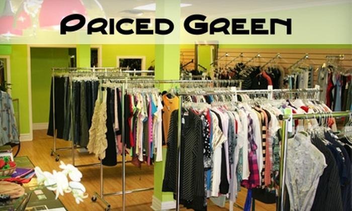 Priced Green - Multiple Locations: $10 for $20 Worth of High-Quality Secondhand Clothing and Accessories at Priced Green