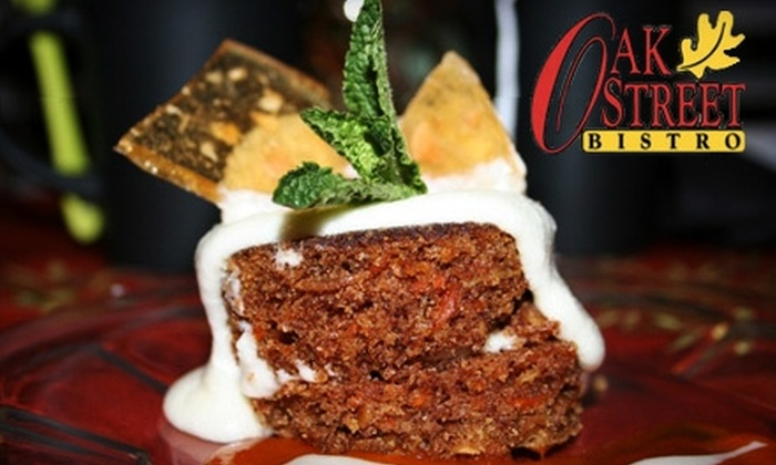Oak Street Bistro - Conway: $15 for $30 of Classic American Dinner Fare or $7 for $15 Worth of Lunch Fare at Oak Street Bistro in Conway