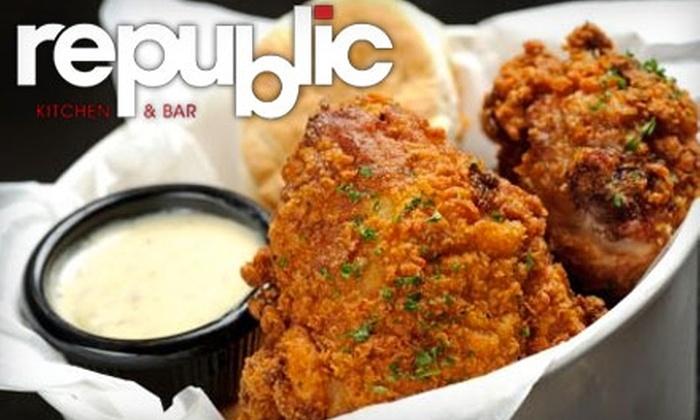 Republic Kitchen & Bar - Silverado Ranch: $12 for $25 Worth of American Bistro Cuisine at Republic Kitchen & Bar