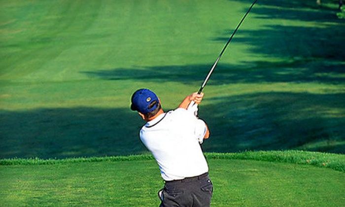 Queenfield Golf Club - Acquinton: 18-Hole Golf Outing for Two or 20 Buckets of Driving-Range Balls at Queenfield Golf Club in Manquin (Up to 60% Off)