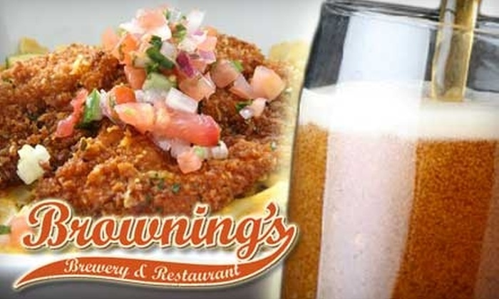 Browning's Brewery - Central Business District: $10 for $20 of Worth of Pub Fare and Beer at Browning's Brewery