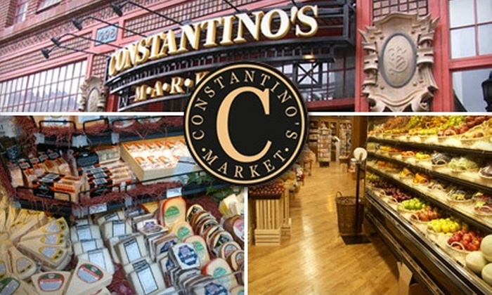 Constantino's Market - Cleveland: $10 for $25 Worth of Gourmet Groceries at Constantino's Market
