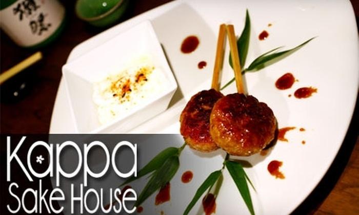 Kappa Sake House - Park Slope: $20 for $40 Worth of Japanese Sake and Small Food Plates at Kappa Sake House