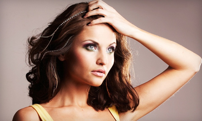Salon Mmm - Palatine: $39 for a Haircut with Style and Feather Extensions at Salon Mmm in Palatine (Up to $80 Value)