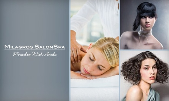 Milagros SalonSpa - Multiple Locations: $50 for $100 Worth of Spa Services or $75 for $150 Worth of Salon Services at Milagros SalonSpa