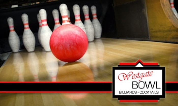 Westgate Bowl - Alpine: $19 for One Hour of Bowling, Shoe Rental, a 16-Inch Pizza, and a Pitcher of Soda for Two People at Westgate Bowl ($49.20 Value)