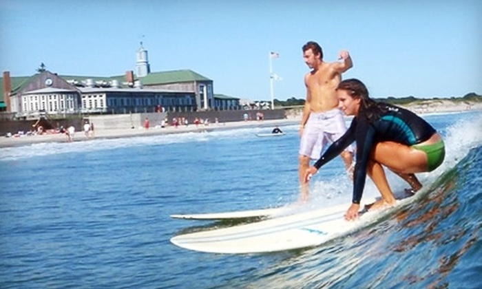 Narragansett Surf & Skate Shop - Narragansett: $30 for One-Hour Private Surf Lesson with Wetsuit and Board Rental at Narragansett Surf & Skate ($60 Value)