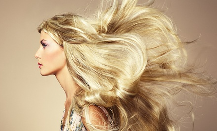 Haircut with Options for Partial or Full Color at The Hair Studio at Faux Finish (Up to 52% Off)