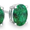 2.00 CTW Genuine Emerald Stud Earrings (1 or 2 Pairs)