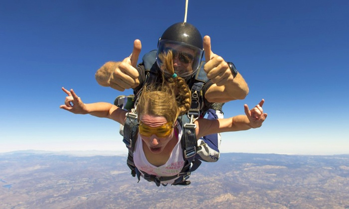 Skydive San Diego - Skydive San Diego: Tandem Skydive for Two with Optional Shove Your Love Package from Skydive San Diego (Up to 42% Off)