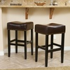 Modern Leather Stools (Set of 2)