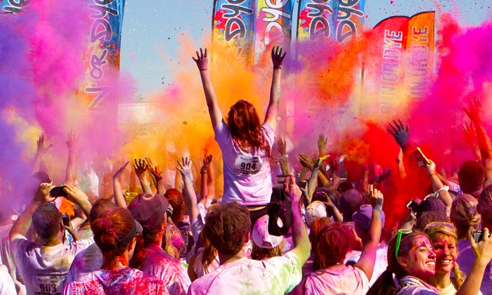 Run or Dye - Central Industrial District: Colorful 5K Race Entry for One or Two at Run or Dye (Up to $94 Value)