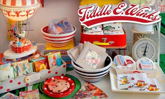 Tiddle E. Winks Vintage 5 & Dime - Sonoma: $8 for $16 Worth of Vintage-Inspired Merchandise at Tiddle E. Winks Vintage 5 & Dime