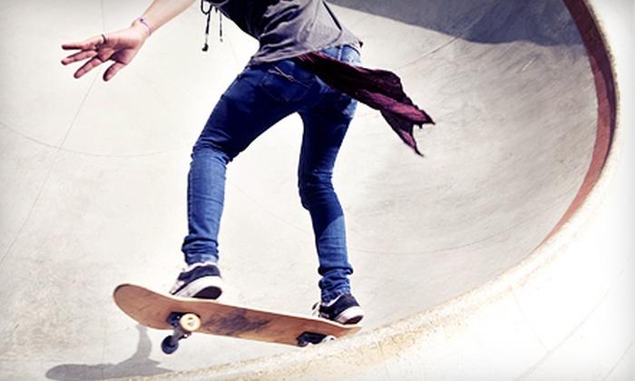 Vertigo Skateshop - Multiple Locations: Skateboarding Clinic, Summer Skateboarding Pass, or Halfpipe Party Rental at Vertigo Skateshop (Up to 52% Off)