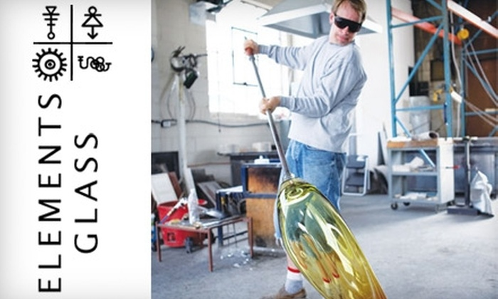Elements Glass - Northwest District: $30 for an Intro to Glassblowing Class ($65 value) or $60 Worth of Merchandise at Elements Glass