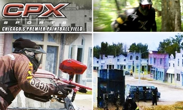 CPX Sports Paintball - Chicago: $24 for Open Play, Equipment, and Paintballs at CPX Sports Paintball ($49 Value)