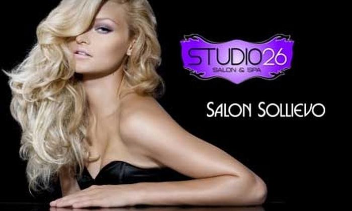 Studio 26 Salon & Spa and Salon Sollievo - Sioux Falls: $54 for a Color, Women's Haircut, and a Lip or Eyebrow Wax at Studio 26 Salon & Spa or Salon Sollievo (A $108 Value)