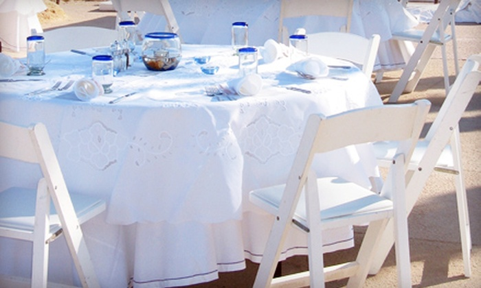 Empire Event Rentals - Manassas: Table, Chair, and Tablecloth Rental and Event Setup from Empire Event Rentals (Half Off). Five Options Available.