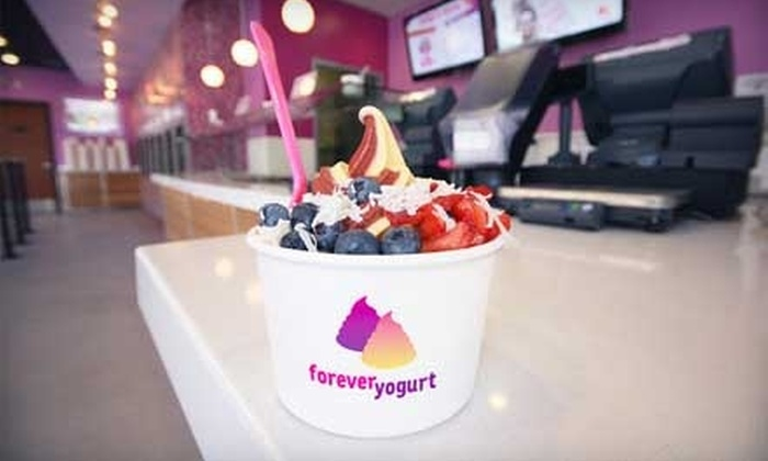 Forever Yogurt - Multiple Locations: $5 for $10 Worth of Frozen Treats at Forever Yogurt