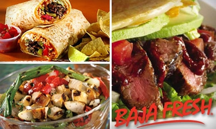 Baja Fresh - Cupertino: $7 for $15 Worth of Fresh Mexican Fare at Baja Fresh in Cupertino