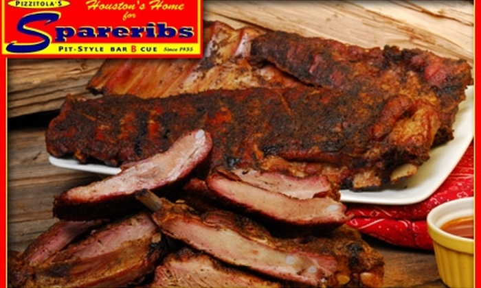 Pizzitola's - Washington Ave./ Memorial Park: $9 for $18 Worth of Barbecue Ribs, Brisket, Chicken, and More from Pizzitola's Bar-B-Cue
