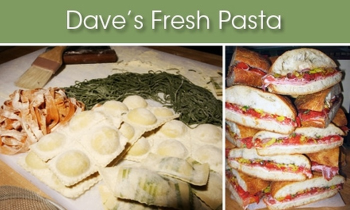 Dave's Fresh Pasta  - Tufts: $10 for $20 Worth of Sips and Savories at Dave's Fresh Pasta