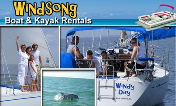 Windsong Charters, Inc. - New Port Richey: $20 for $50 Toward Boat Charters, Kayak Rentals, Sailing Lessons, & More at Windsong Charters
