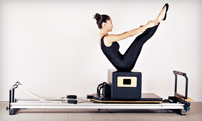 Pilates of New Jersey - Roseland: Four Group Tower, Reformer, or Barre Classes or Three Private Lessons at Pilates of New Jersey in Roseland (Up to 70% Off)