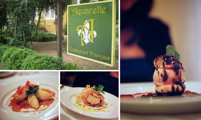 Aquarelle Restaurant - Downtown: $30 for $60 Worth of French Cuisine at Aquarelle Restaurant