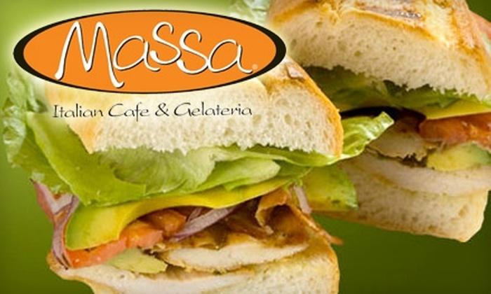 Massa Italian Café & Gelateria - Elmwood Park: $6 for $12 Worth of Café Fare and Gelato at Massa Italian Café & Gelateria
