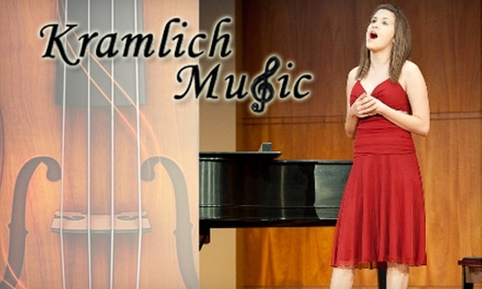 Kramlich Music - Westchase: $75 for Two One-Hour Vocal Lessons from Kramlich Music ($160 Value)