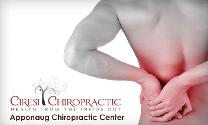 Ciresi Chiropractic - Multiple Locations: $35 Consultation, Exam, X-rays (if needed), and Follow-Up Visit with Report of Findings and Adjustment at Ciresi Chiropractic or Apponaug Chiropractic Center (Up to $343 Value)