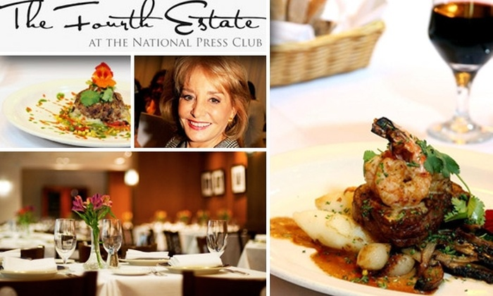 The Fourth Estate Restaurant - National Press Club - Downtown - Penn Quarter - Chinatown: $20 for $40 Worth of New American Cuisine at the Fourth Estate