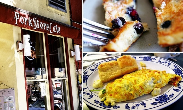 Pork Store Cafe - Multiple Locations: $15 for $30 Worth of Classic American Breakfast Food at Pork Store