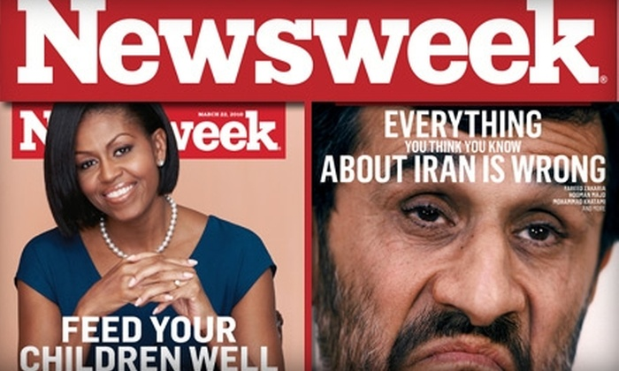 """Newsweek - Sioux Falls: $20 for a 54-Issue Subscription to """"Newsweek"""" ($39 Value)"""