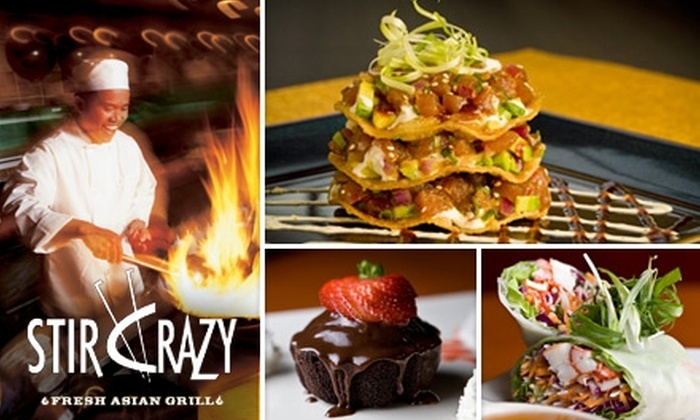 Stir Crazy - Multiple Locations: $15 for $30 Worth of Asian Cuisine and Drinks at Stir Crazy