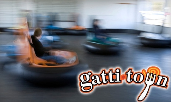 GattiTown - Evansville: $20 for Two Buffets, Two Soft Drinks, Four Bumper-Car Rides, Four Frog-Hopper Rides and Two Game Cards at GattiTown ($50 Value)
