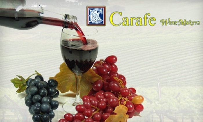 Carafe Wine Makers - North Raleigh: $20 for Three Bottles of Wine with Customized Labels at Carafe Wine Makers ($50 Value)