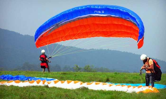 Let's Go Paragliding - North East: Weekday or Weekend Introduction to Paragliding Lesson at Let's Go Paragliding (Up to 58% Off)