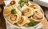 Smakowity zestaw: pierogi i zupa