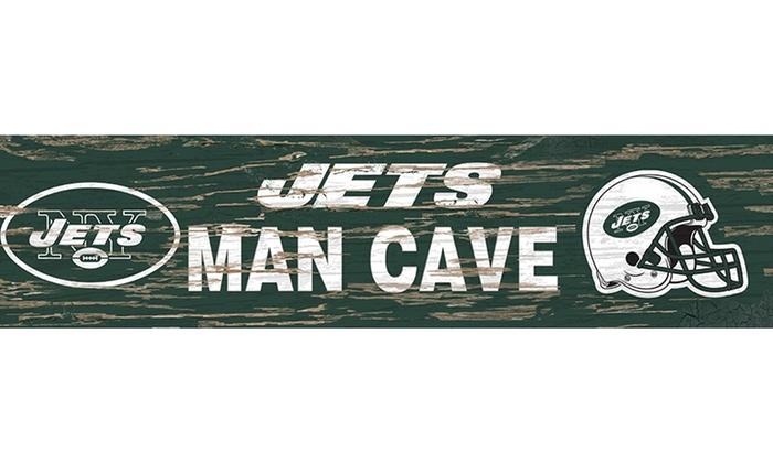 Man Cave Signs Nfl : Nfl distressed man cave sign groupon goods