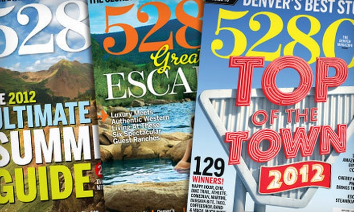 """5280 Magazine - Denver: Subscription for 12 or 24 Issues from """"5280"""" Magazine (Up to 46% Off)"""